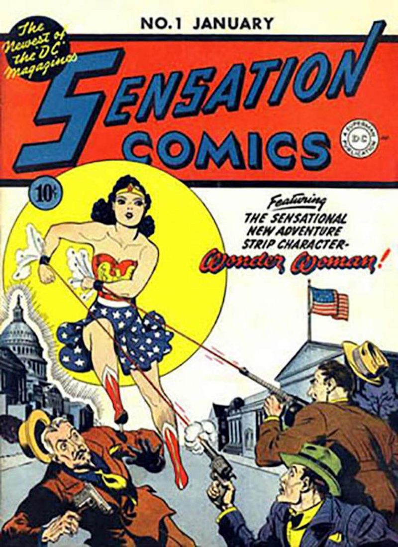 Sensation Comics First Cover