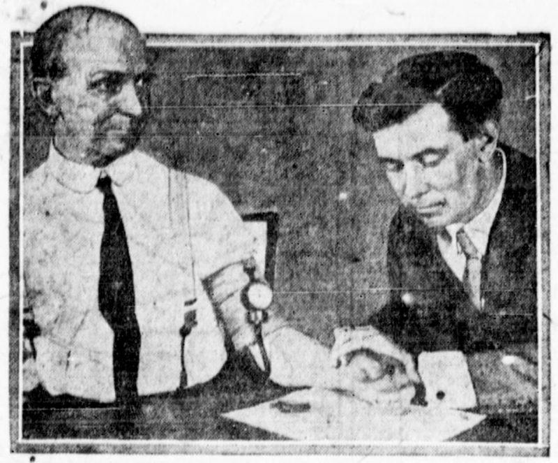 William Marston - Aug 1922 Newspaper Photo